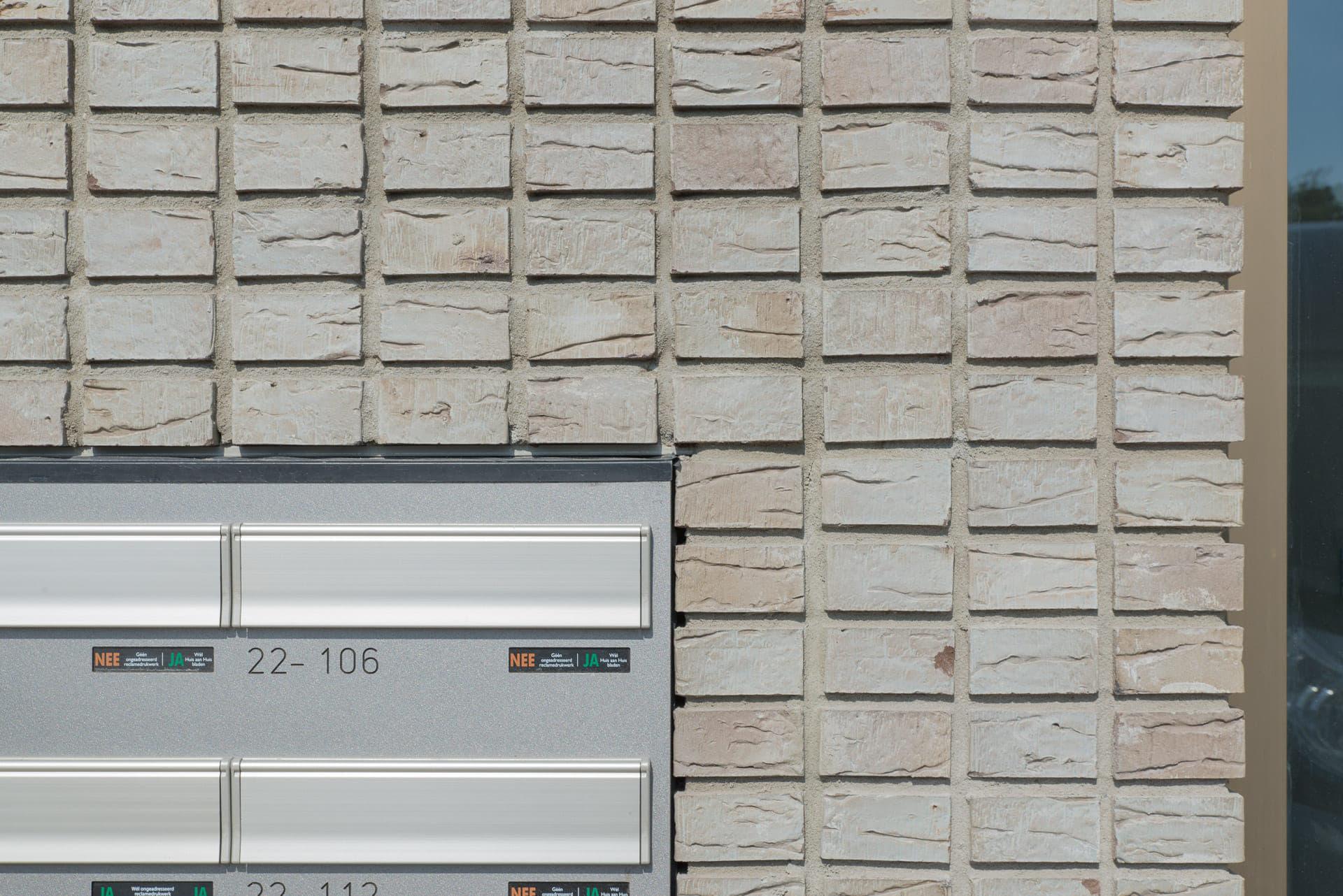 De Kaap in Hoogeveen metselwerk dikformaat met brievenbus