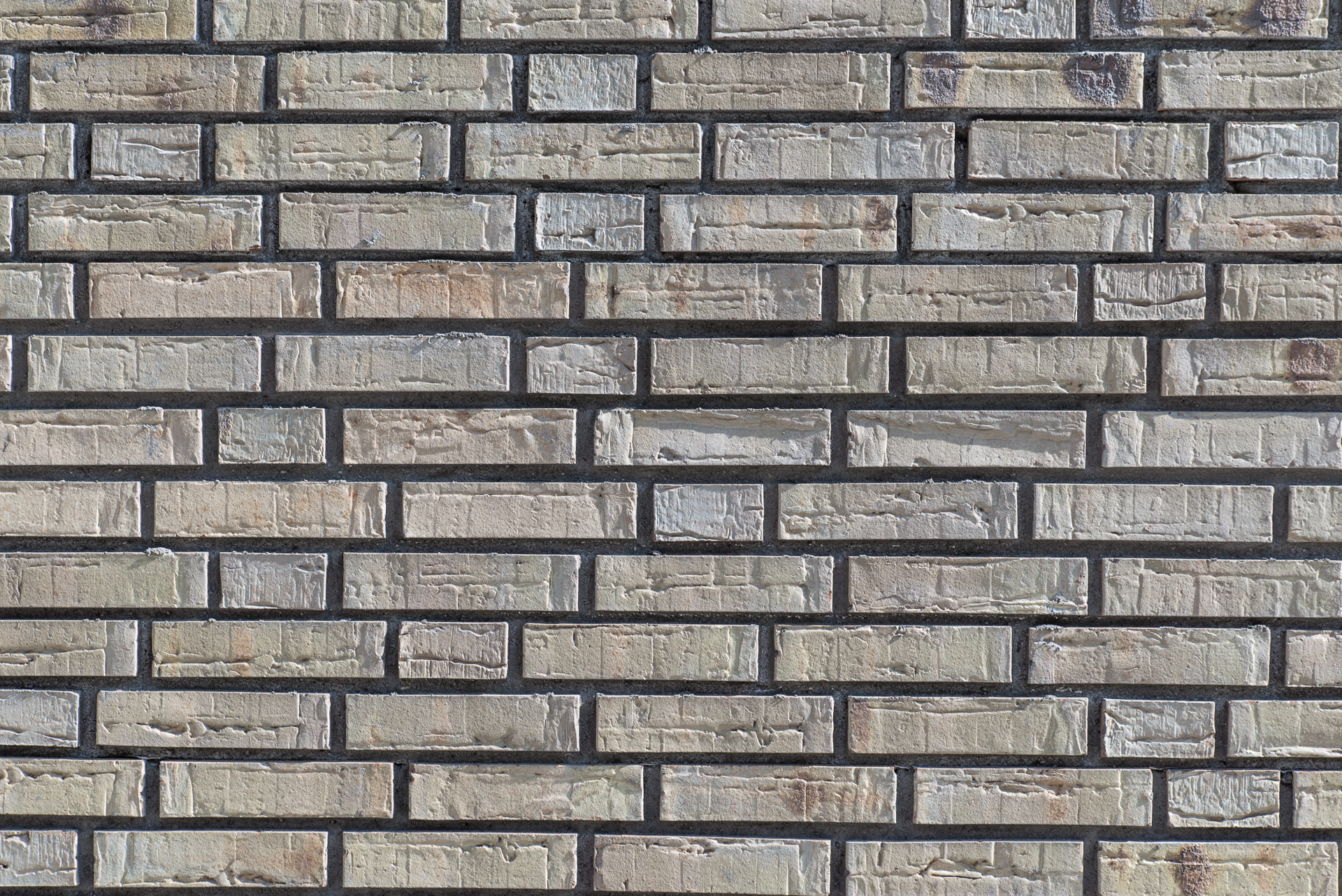 Detail van gemetselde muur