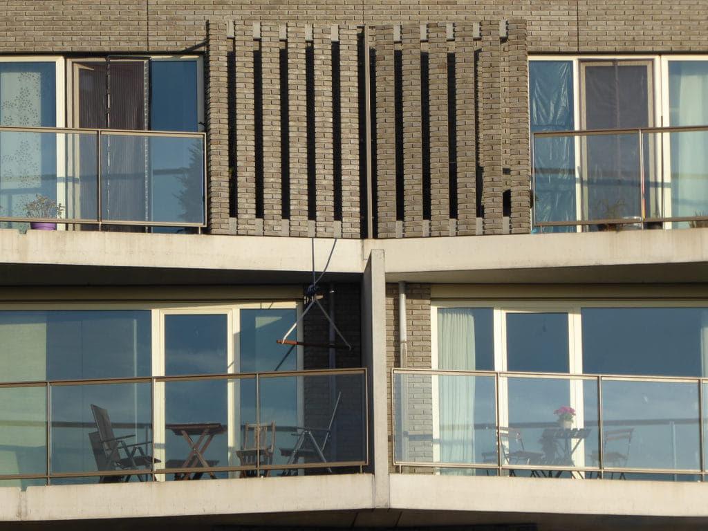 De Kameleon Karspeldreef Amsterdam balkon schutting