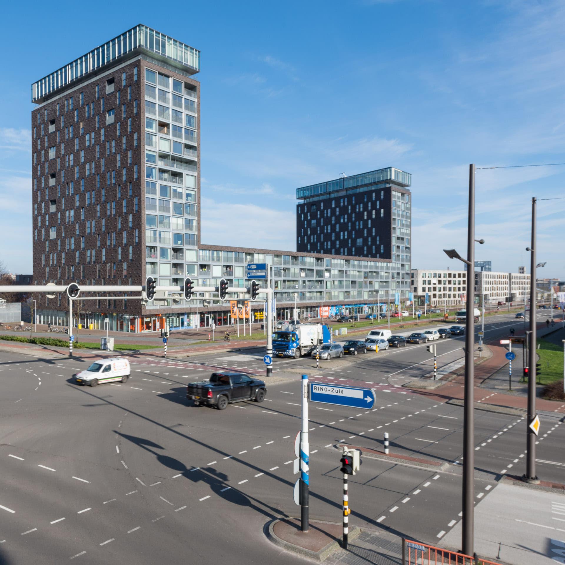 Kop van Oost Groningen Ring met torens