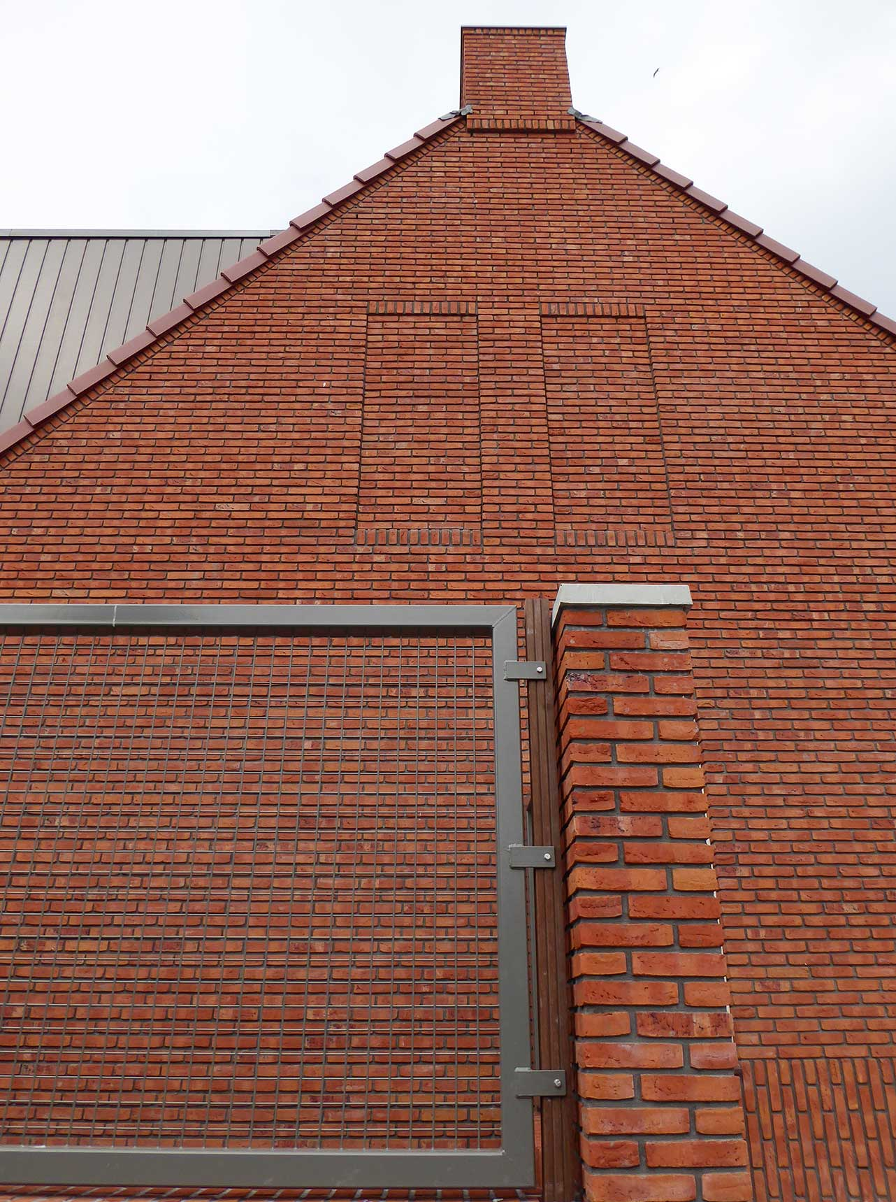Havenbuurt Zaandam muur met bijzonder metselwerkdetails