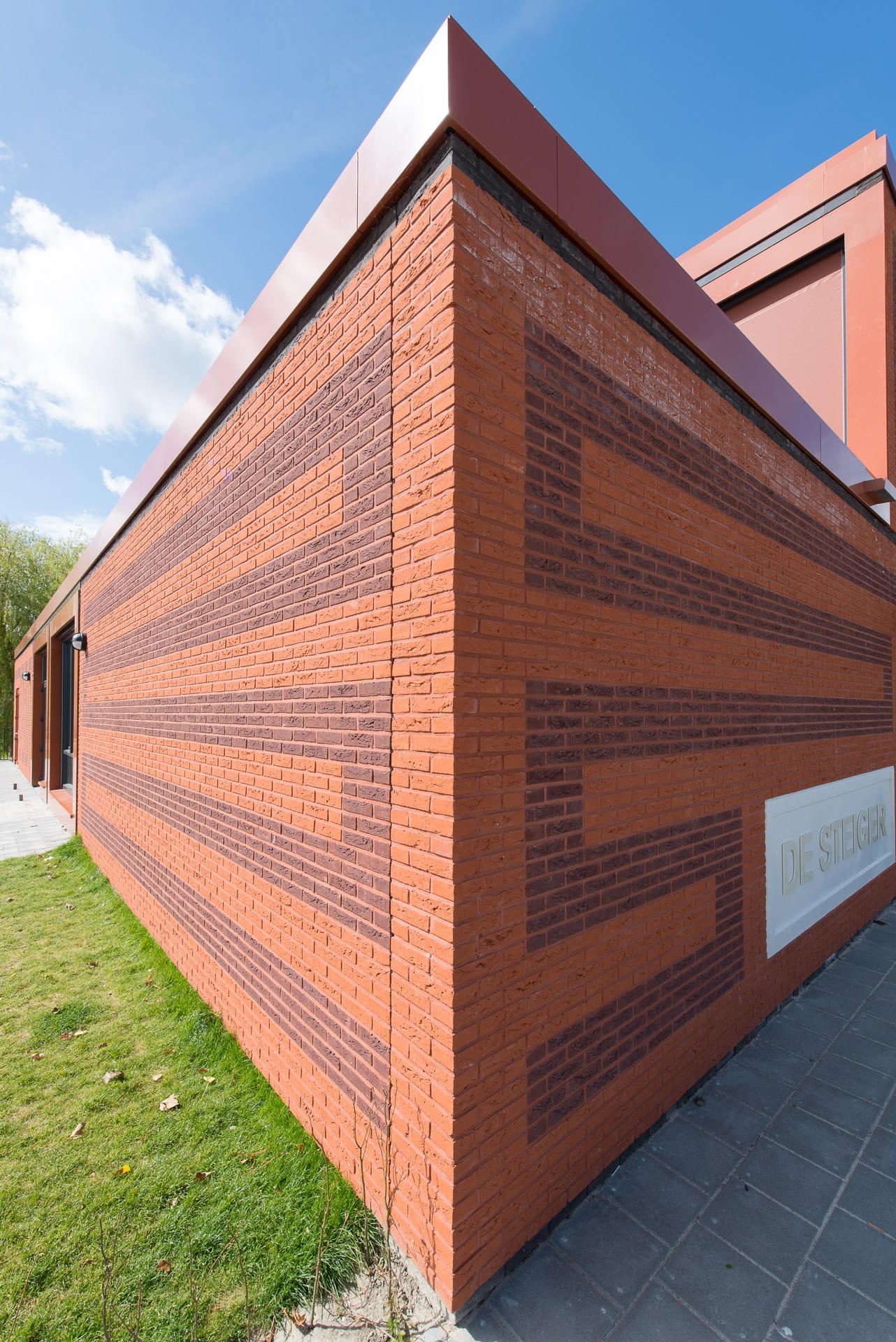 Hoek van gebouw MFA Lemstervaart