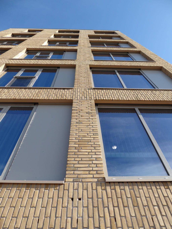 Zeeburgereiland Amsterdam metselwerk om glas