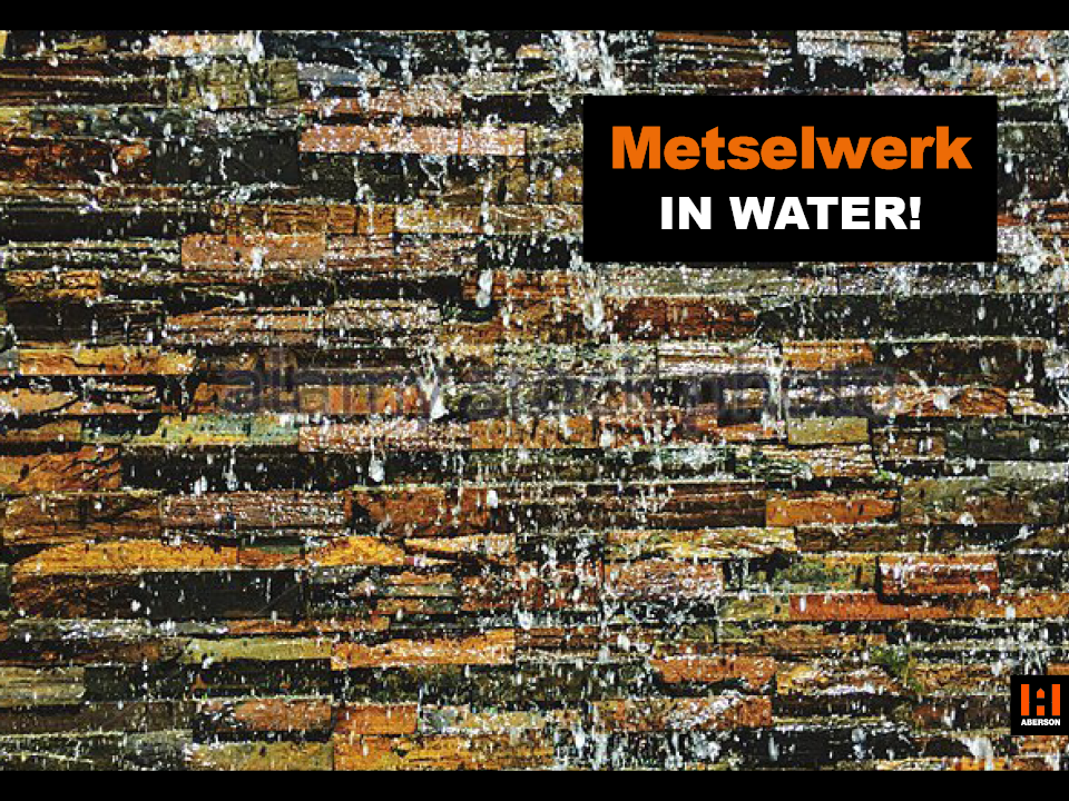 Metselwerk in water