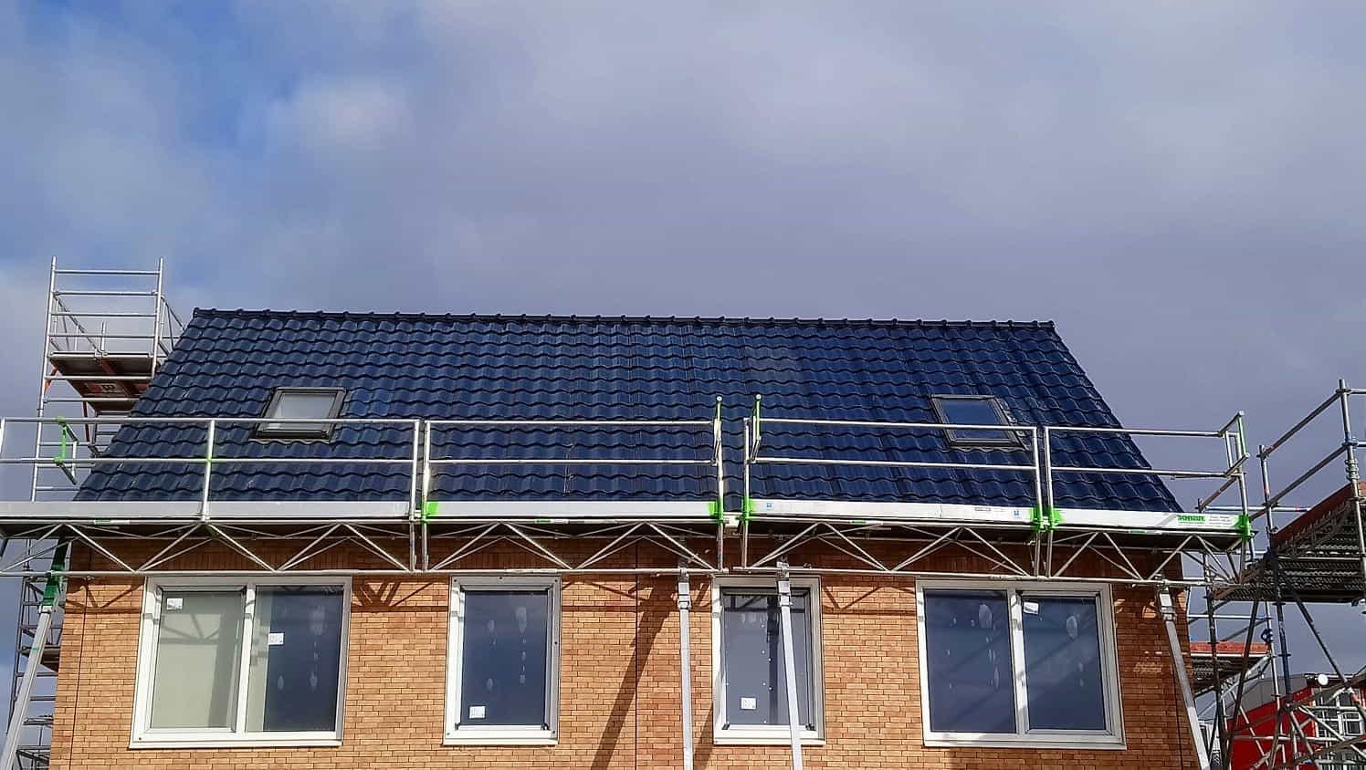 Loskade Groningen Van Wijnen Aberson Solar Hantile dakpannen steenstrips