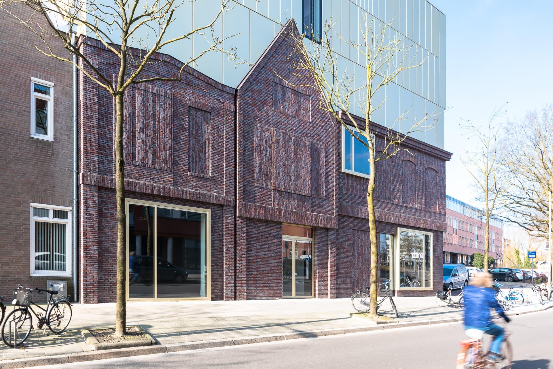 Gevel van het Prins Claus Conservatorium in Groningen
