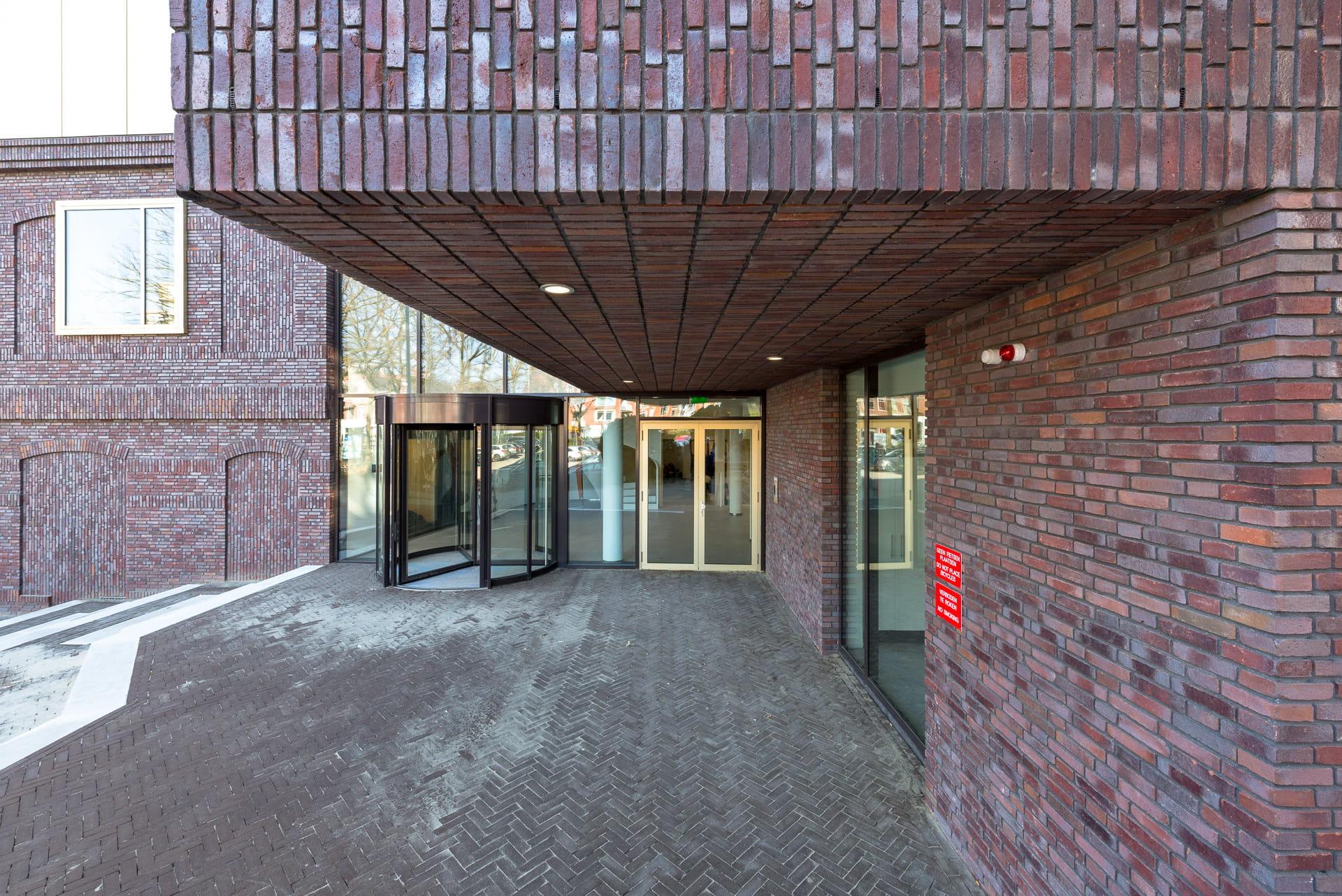 Ingang van het Prins Claus Conservatorium in Groningen