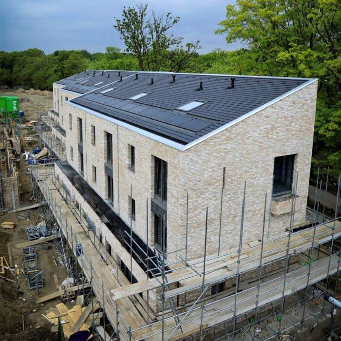 Huis in aanbouw in Strijp R in Eindhoven