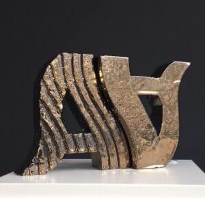 Twee gouden awards in de vorm van een A voor de Amsterdamse Architectuurprijs 2020